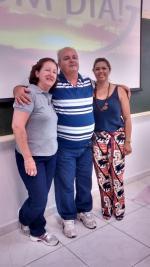 Edivaldo e suas colegas de LFN Fernanda (esq) e Iraides